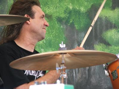 Bryan Lee's drummer John Perkins