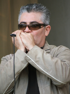 Charlie Love's Harmonica Player