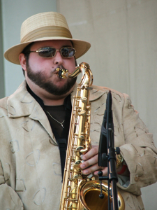 Charlie Love's saxophonist