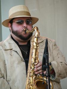 Charlie Love's saxophonist