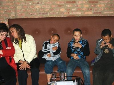Almarie Wagner(VP), Maggie Brown & her kids