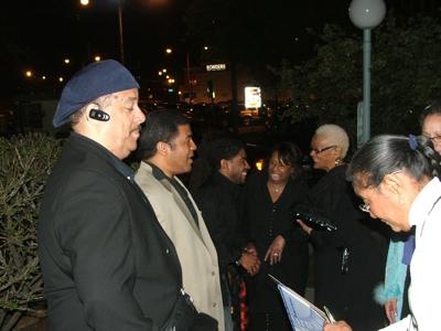 Frank Russell, Ernie Adams, Corey Wilkes & fans
